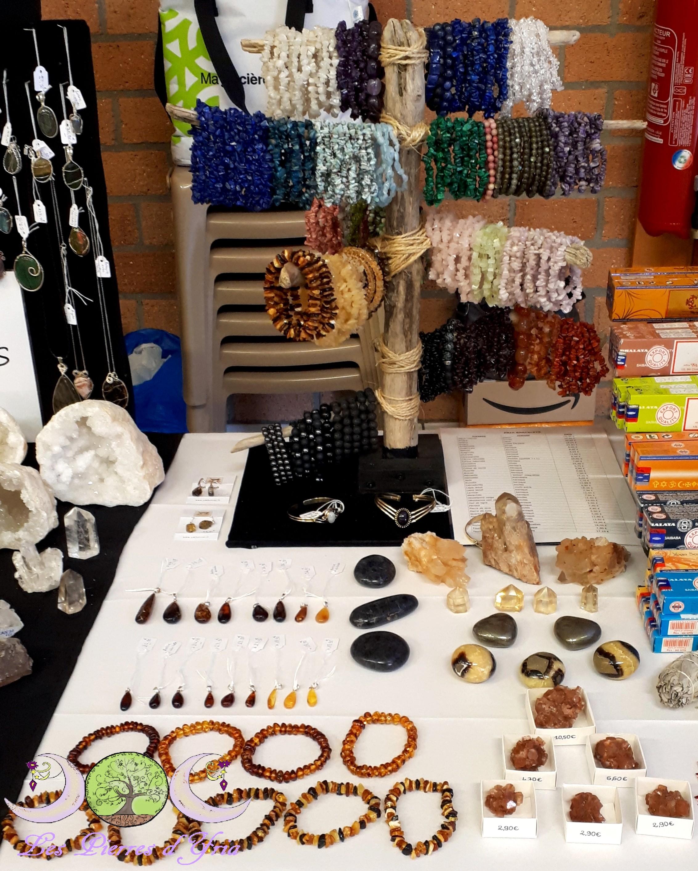 bracelets, ambre, citrine, septaria, pyrite