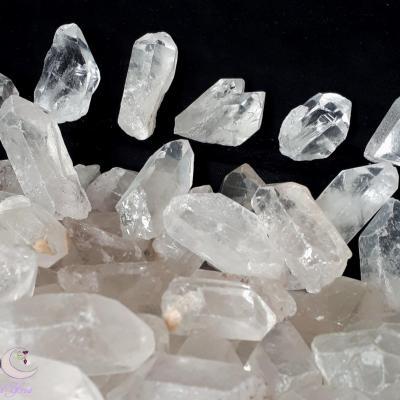 Pointe brute de cristal de roche - 10 à 20g