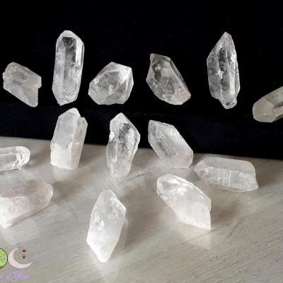 Pointe brute de cristal de roche - 20 à 30g
