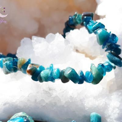Bracelet baroque Apatite bleue