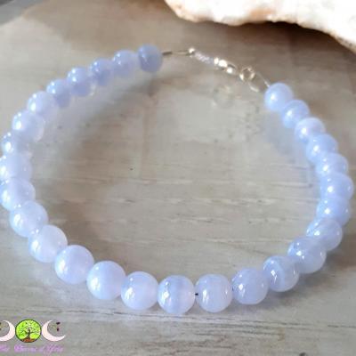 Bracelet Calcédoine [Agate blue lace]