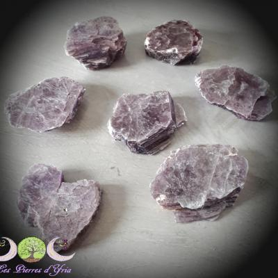 Lépidolite [plaque brute] - qualité extra