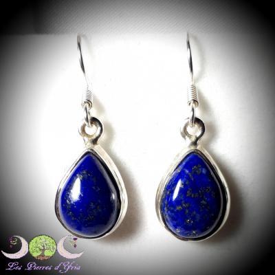 Boucles d'oreille Lapis-Lazuli & argent 925