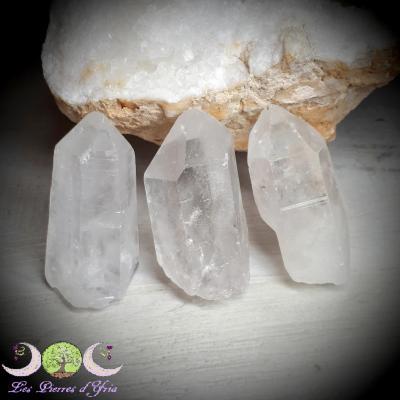 Pointe brute de cristal de roche - 45 à 65g