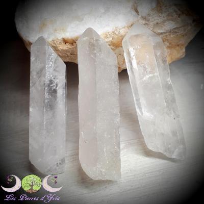 Pointe brute de cristal de roche - 40 à 55g