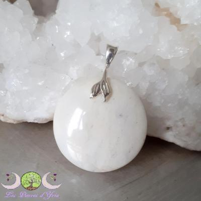 Pendentif Opale blanche