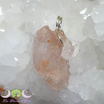 Pendentif kunzite [cristal brut]