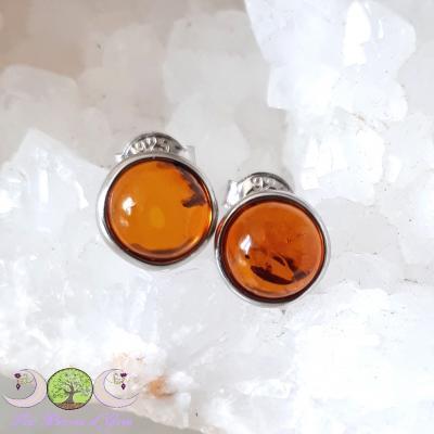 Boucles d'oreille Ambre naturelle & argent 925