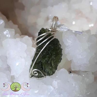 Pendentif Moldavite [Chlum] & Argent 925