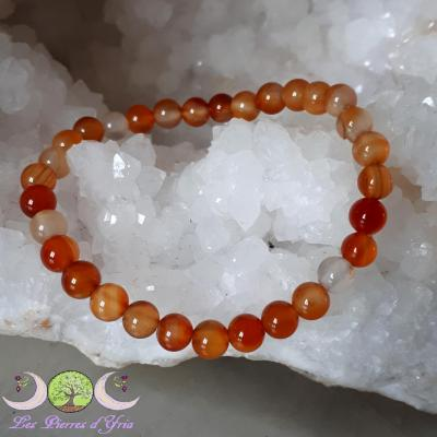 Bracelet Cornaline [Perles 6mm]