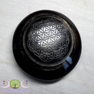 Galet Obsidienne Argentée