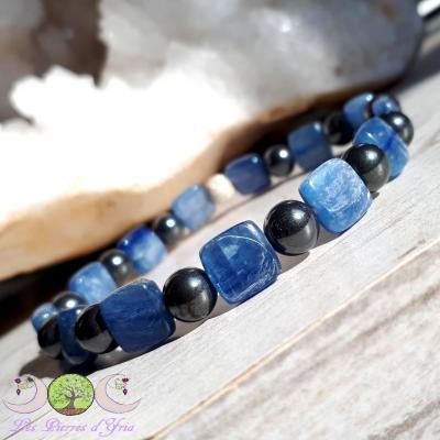 Bracelet Cyanite & Hématite