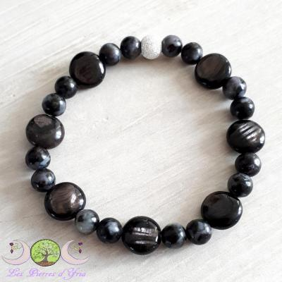 Bracelet Hypersthene & Gabbro