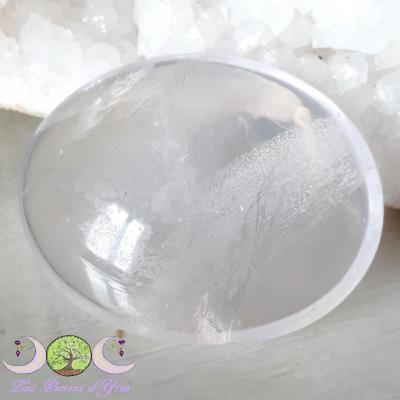 "Cristal de roche - Galet ""fantôme"""