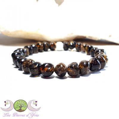 Bracelet Ambre verte naturelle [Baltique]