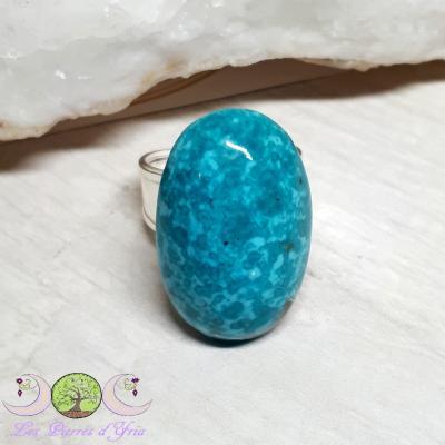 Bague Turquoise (Perse) [en argent, taille réglable]