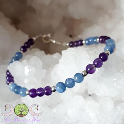 Bracelet Cyanite & Améthyste