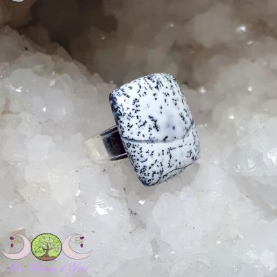 Bague Opale Dendrite [argent 925, taille réglable]
