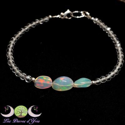 Bracelet OPALE Welo & Cristal de roche