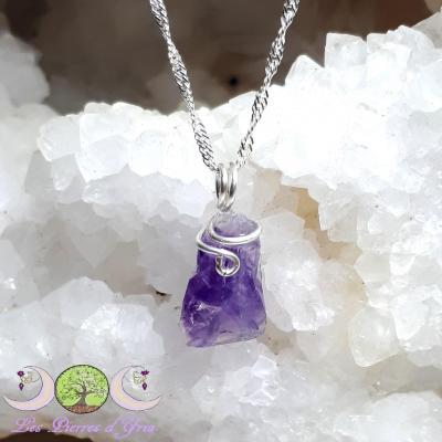 Pendentif Améthyste [cristal brut]