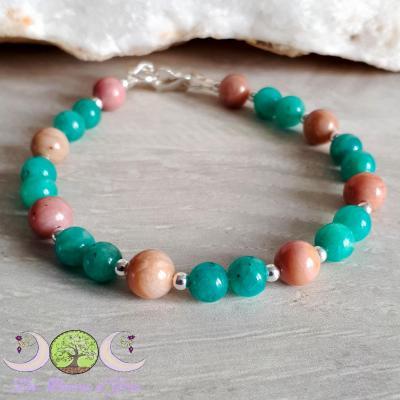 Bracelet Amazonite & Rhodonite