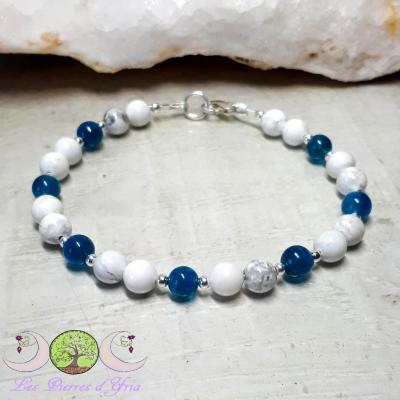 Bracelet Magnésite & Apatite bleue