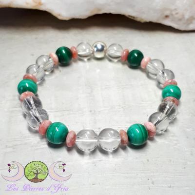 Bracelet Malachite & Rhodochrosite