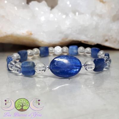 Bracelet Cyanite & Cristal de roche