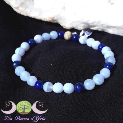 Bracelet Calcédoine & Lapis-lazuli