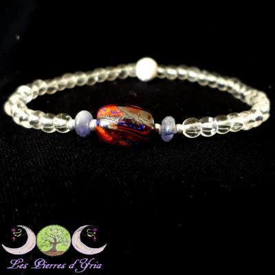 Bracelet Opale boulder & Tanzanite