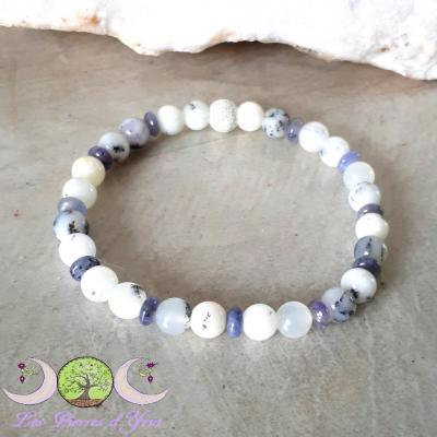 Bracelet Opale Dendrite & Tanzanite