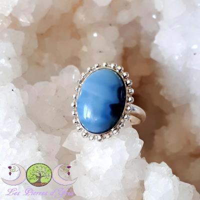Bague Opale Bleue [Pérou]