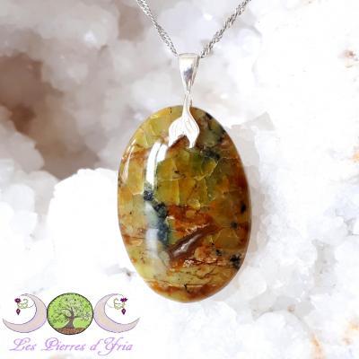 Pendentif Opale verte de Madagascar