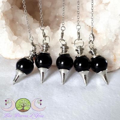 Pendule séphoroton Obsidienne noire