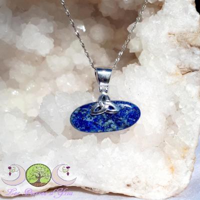 Pendentif Lapis-Lazuli & Triquetra
