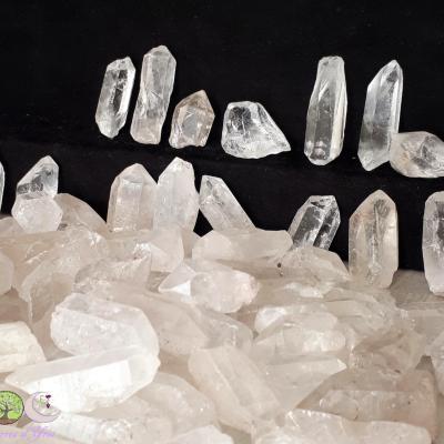 Pointe brute de cristal de roche - 6 à 10g