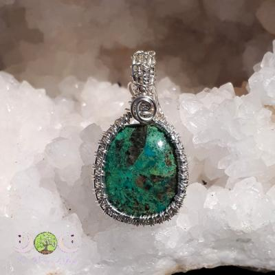 Pendentif Chrysocolle & Argent