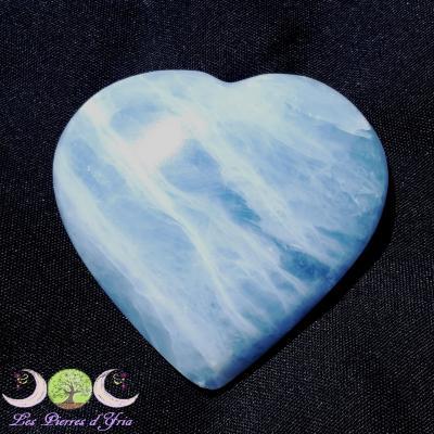 Coeur Calcite bleue [Réf4]