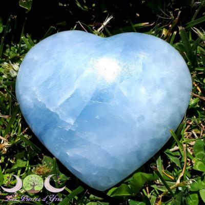 Coeur Calcite bleue [Réf5]
