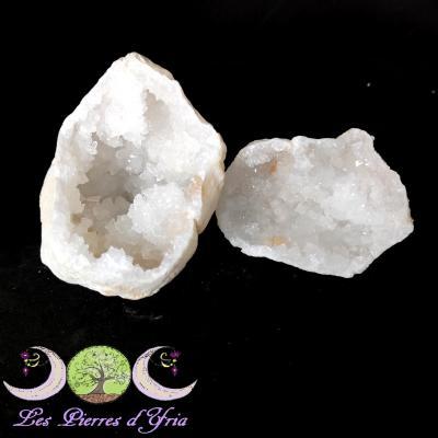 Géode de Cristal de Roche (la paire) #1