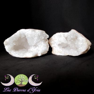 Géode de Cristal de Roche (la paire) #2