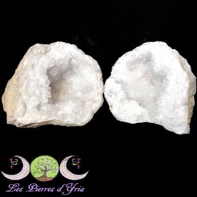 Géode de Cristal de Roche (la paire) #15