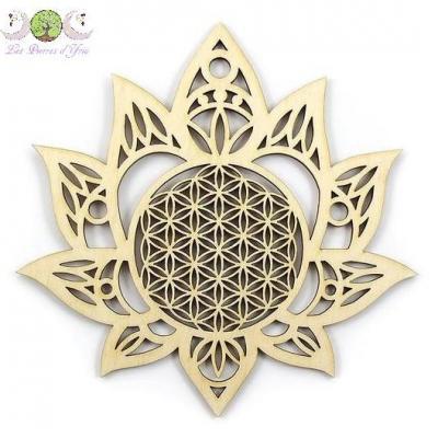 Décoration Lotus & Fleur de Vie