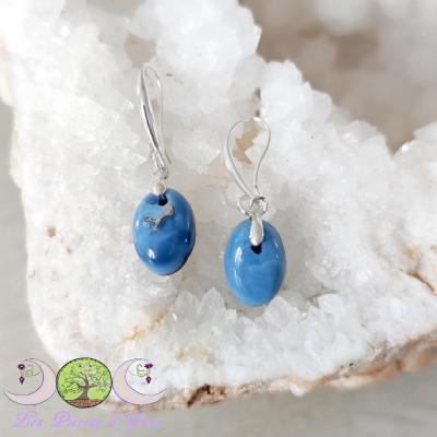 Boucles d'oreilles Opale Bleue [Pérou]