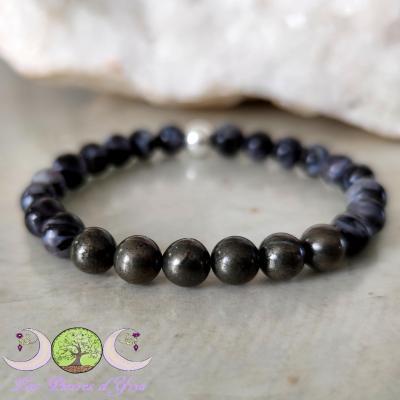 Bracelet Pyrite & Gabbro