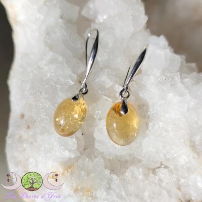 Boucles d'oreilles citrine naturelle [extra]