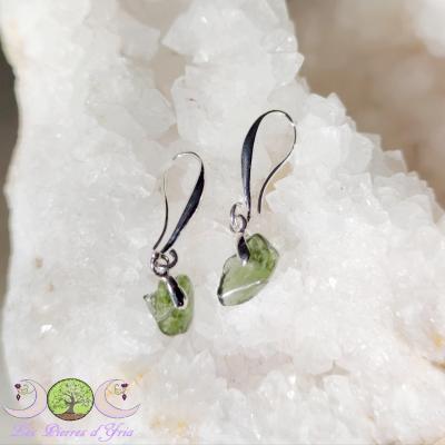 Boucle d'oreille Moldavite