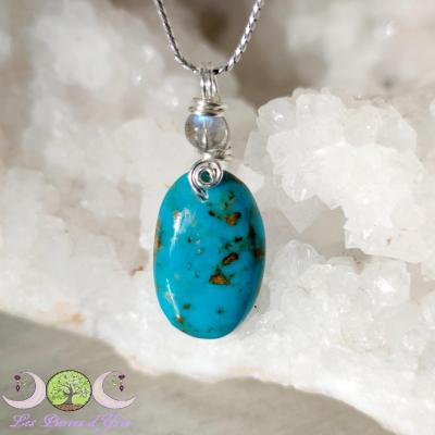 Pendentif Turquoise [Perse] & Labradorite
