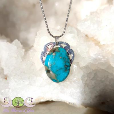 Pendentif Turquoise [Perse] & Triquetra