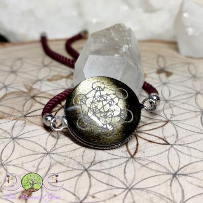 Bracelet Obsidienne Dorée & Métatron
